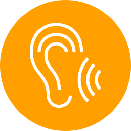 Icon of an ear listening